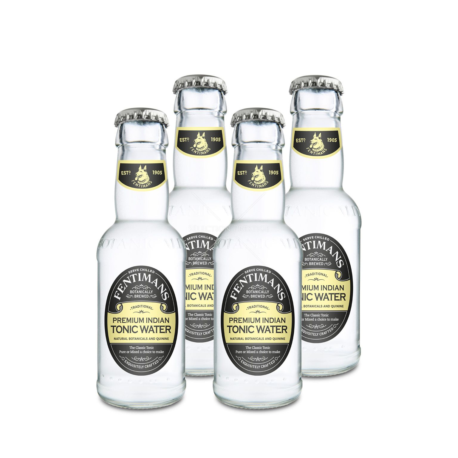 PREMIUM INDIAN TONIC WATER FENTIMANS x 4  20cl