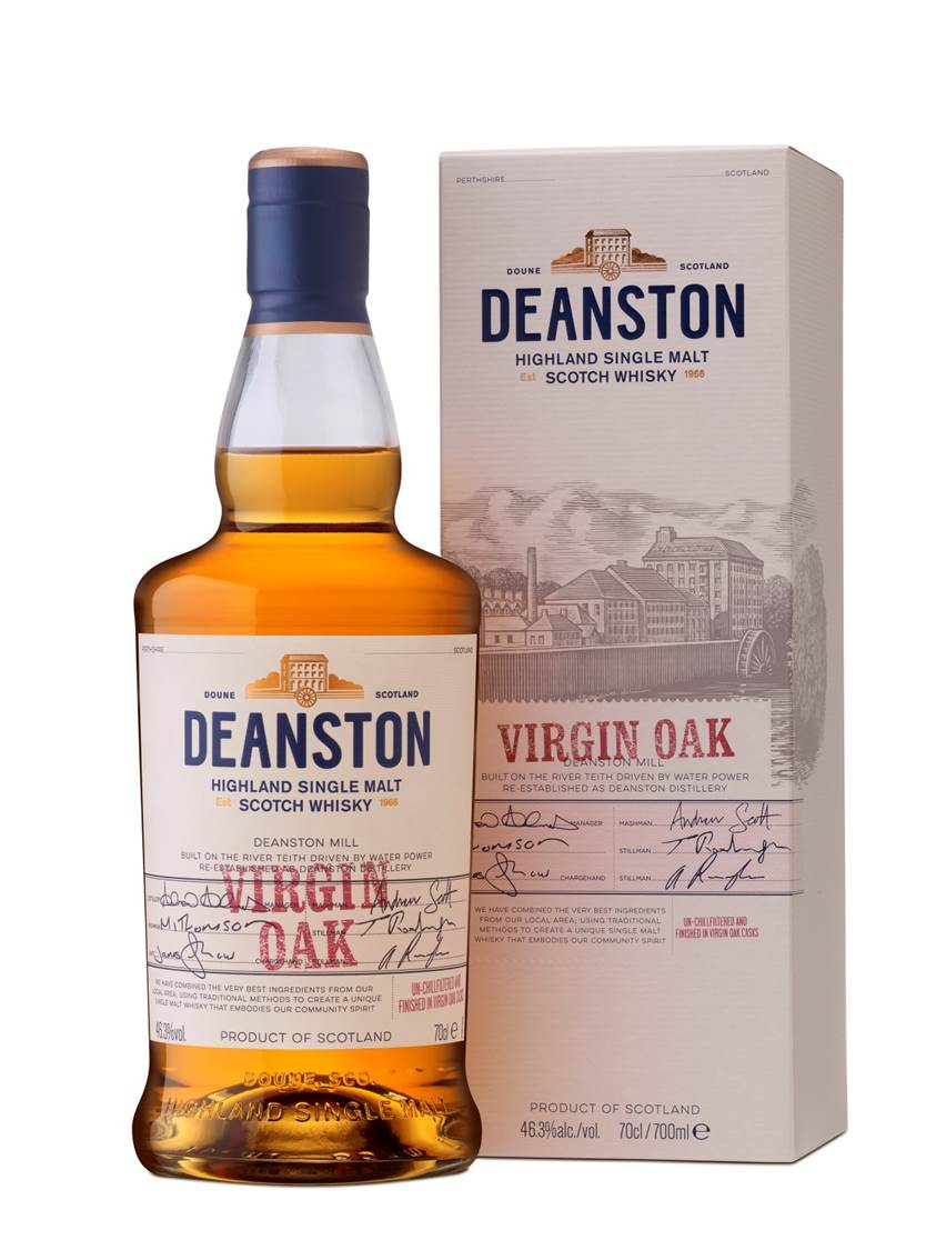 DEANSTON VIRGIN OAK HIGHTLAND SINGLE MALT SCOTCH WHISKY 70CL