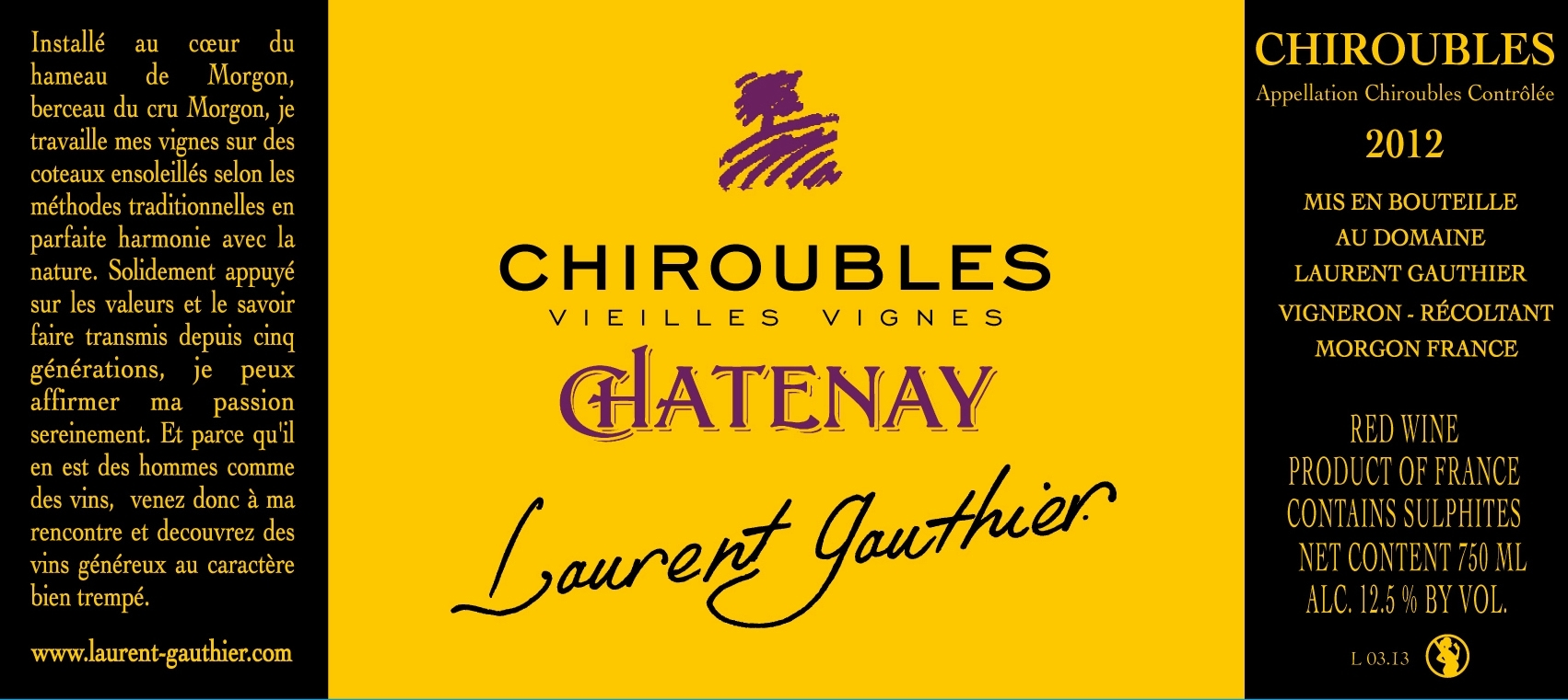 BEAUJOLAIS CHIROUBLES CHATENAY