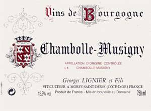 CHAMBOLLE MUSIGNY  DOMAINE LIGNIER