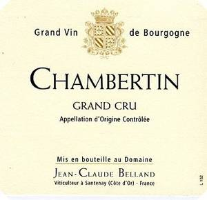 CHAMBERTIN GRAND CRU DOMAINE BELLAND 2006 75 CL ROUGE