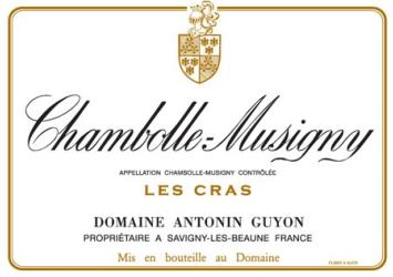 CHAMBOLLE MUSIGNY LES CRAS ROUGE 75 CL 2016 DOMAINE ANTONIN GUYON